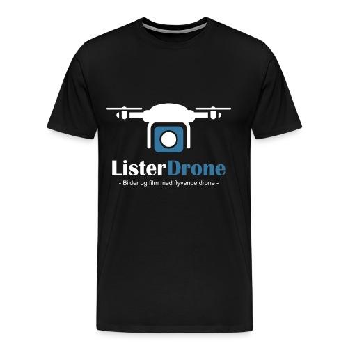 ListerDrone logo - Premium T-skjorte for menn