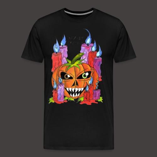 CANDLE PUMPKIN - T-shirt Premium Homme