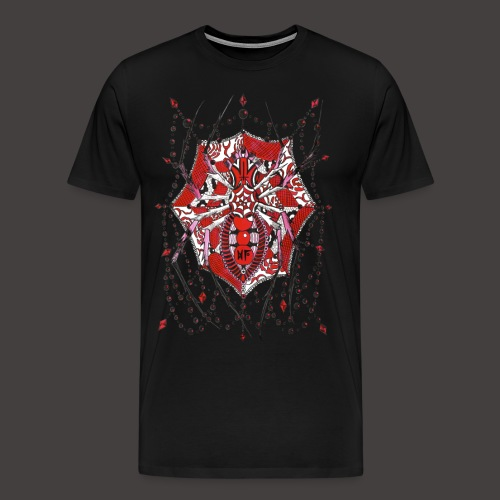 Spider Dentelle Red - T-shirt Premium Homme