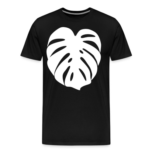 Monstera - Feuille blanche - T-shirt Premium Homme