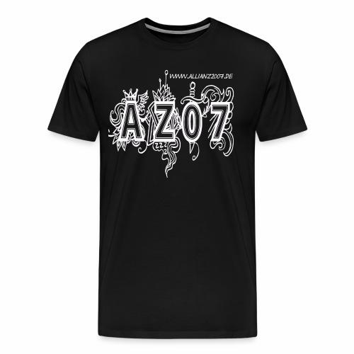 azlogowhite - Männer Premium T-Shirt