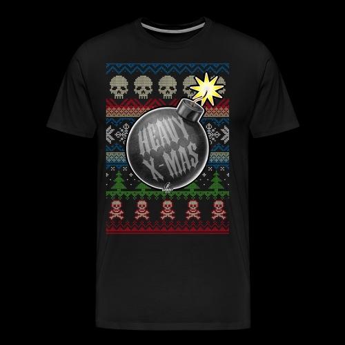 Heavy X-Mas Christbaumkugel-Bombe - Männer Premium T-Shirt