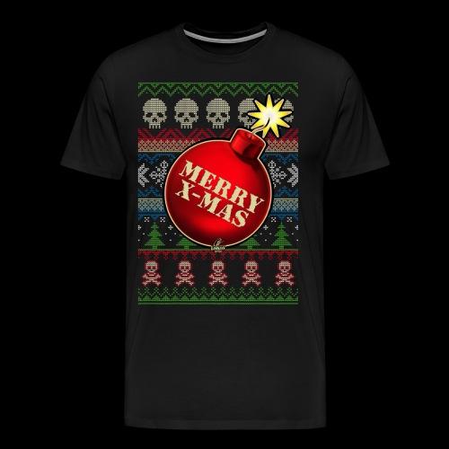 Merry X-Mas Christbaumkugel-Bombe - Männer Premium T-Shirt