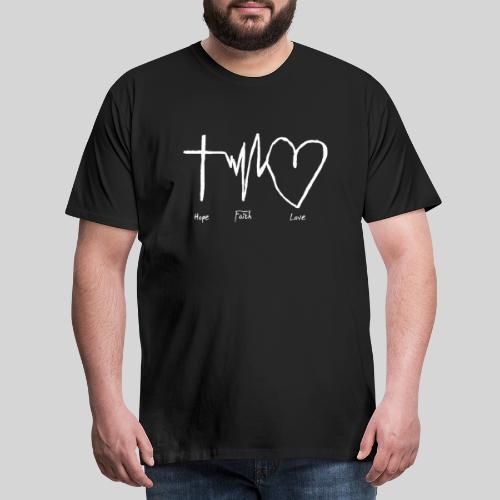 Hoffnung Glaube Liebe - hope faith love - Männer Premium T-Shirt