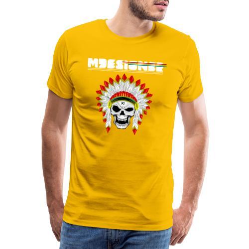 calavera o craneo con penacho de plumas vampiresco - Camiseta premium hombre