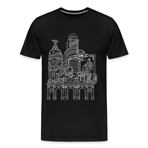 MADRID COLLAGE BLANCO - Camiseta premium hombre