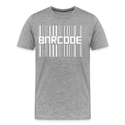 BARCODE BLACK - Men's Premium T-Shirt