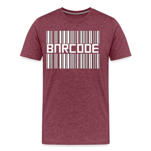 BARCODE BLACK - Men's Premium T-Shirt