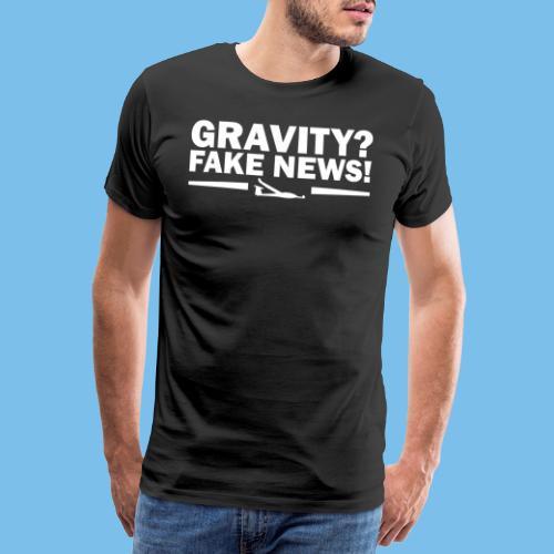 Schwerkraft Segelflieger Geschenk lustig - Männer Premium T-Shirt