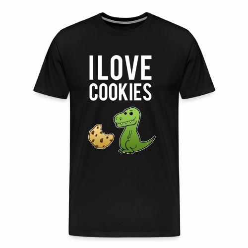 I Love Cookies Kekse Backen Bäcker - Männer Premium T-Shirt