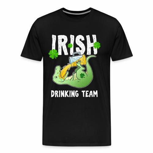 St Patricks Day Irisch Bier T-Rex Irland Kleeblatt - Männer Premium T-Shirt