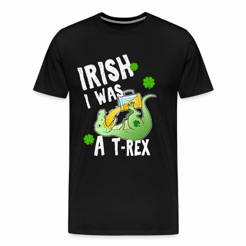 Irischer T Rex St Patricks Day Bier Kleeblatt - Männer Premium T-Shirt