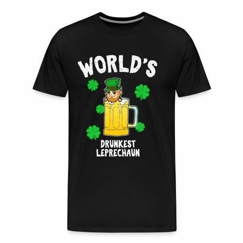 Bier Betrunkener Kobold St Patricks Day Irland - Männer Premium T-Shirt
