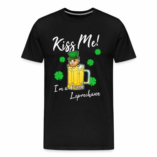 Küss Mich Bier Kobold Betrunken St Patricks Day - Männer Premium T-Shirt