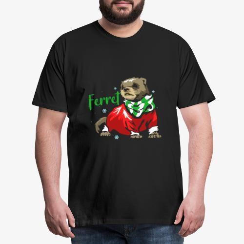 Ferret Christmas gift - Men's Premium T-Shirt