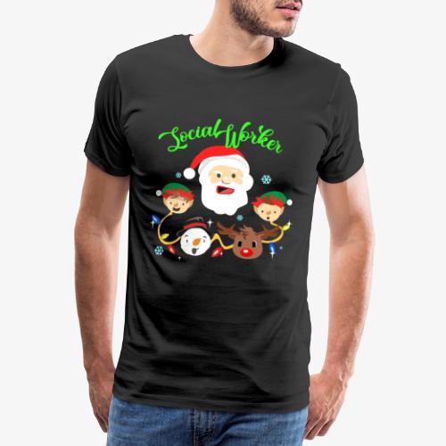 Santa Claus social worker gift - Men's Premium T-Shirt