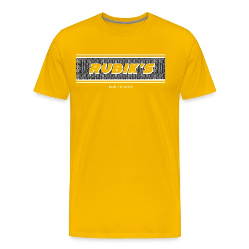 Rubik's Cube Vintage Logo - Men's Premium T-Shirt