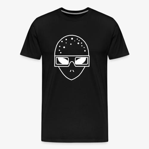 Mr3DAlien Logo White - Männer Premium T-Shirt