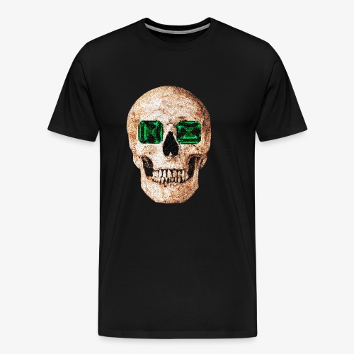 Calavera de ojos verdes Design - Camiseta premium hombre