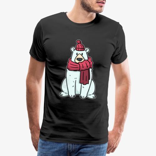 Eisbär Arktis Winter Weihnachten Geschenk - Men's Premium T-Shirt