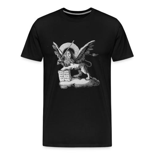 liondebaseBW png - T-shirt Premium Homme