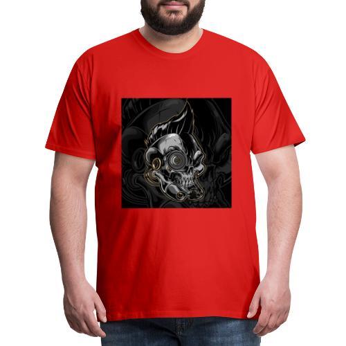 Nareku logo with background - Men's Premium T-Shirt