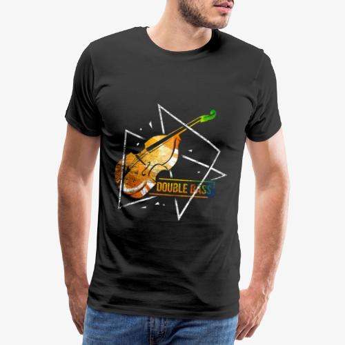 Double Bass Violin Polygon - Men's Premium T-Shirt