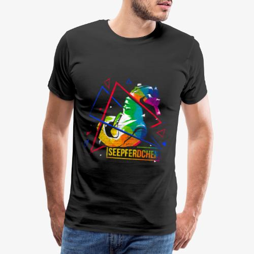 Seahorse polygon gift - Men's Premium T-Shirt