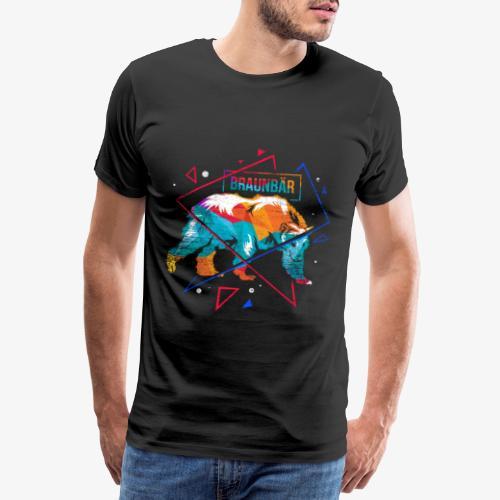 Brown bear polygon - Men's Premium T-Shirt