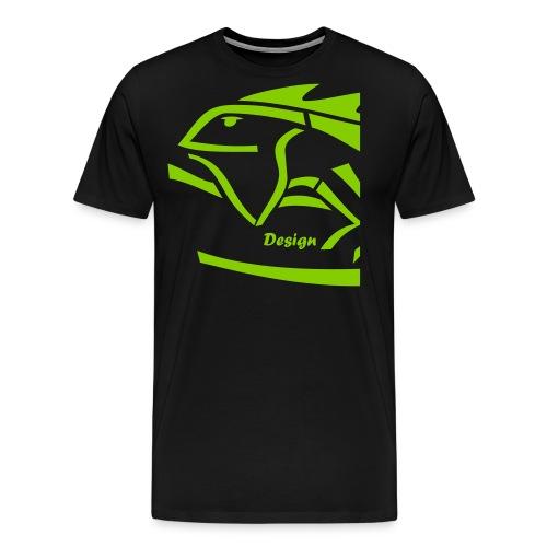 IGUANA Design Big Logo - Männer Premium T-Shirt