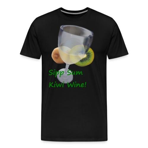 Kiwiwine - Premium T-skjorte for menn