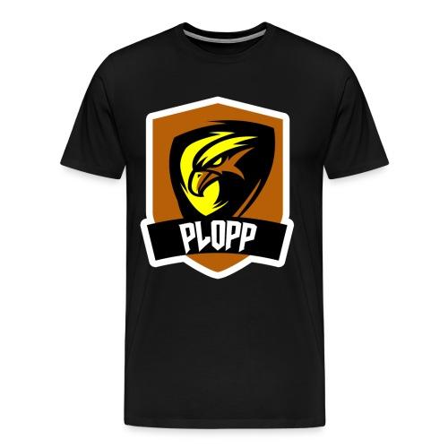 Plopp T-Shirt Emblem Svart - Premium-T-shirt herr