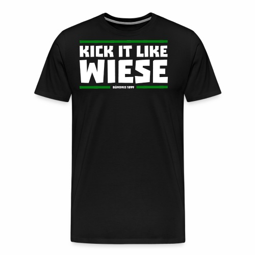 Kick it like Wiese weiss - Männer Premium T-Shirt