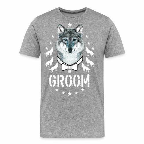 161 Wolf JGA GROOM Wolfpack Sterne - Männer Premium T-Shirt