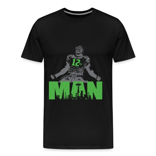 seahawks 1 png - Männer Premium T-Shirt