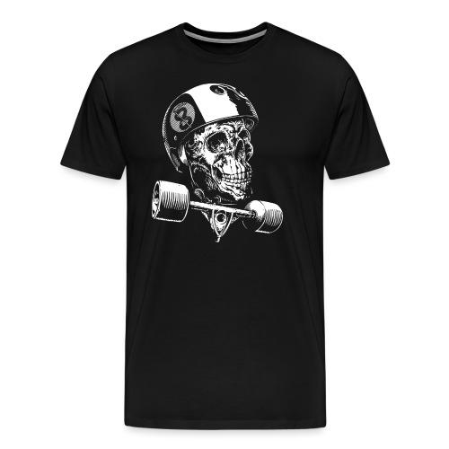 Skull Longboard Rider - negative print - T-shirt Premium Homme