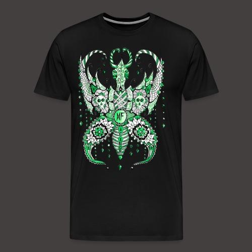 Papillon Lilou Vert - T-shirt Premium Homme