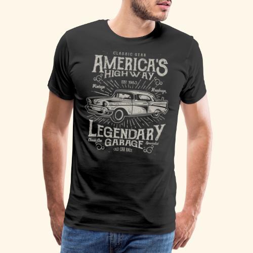Americas Highway - Men's Premium T-Shirt