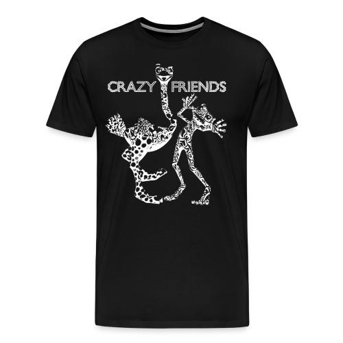 crazy friends W png - Camiseta premium hombre