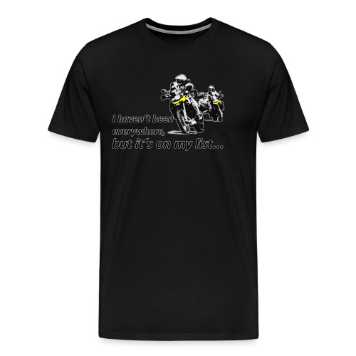 it's on my list... (zwei Motorräder) - Männer Premium T-Shirt