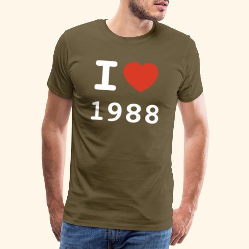 I Love 88 w p 001 - Männer Premium T-Shirt