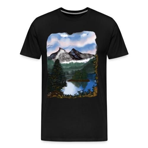 Mystic Mountain - Männer Premium T-Shirt