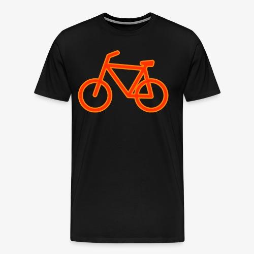 Fahrrad Symbol Shirt Design Geschenk - Männer Premium T-Shirt