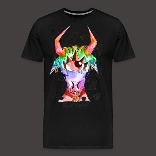 Taureau multi-color - T-shirt Premium Homme