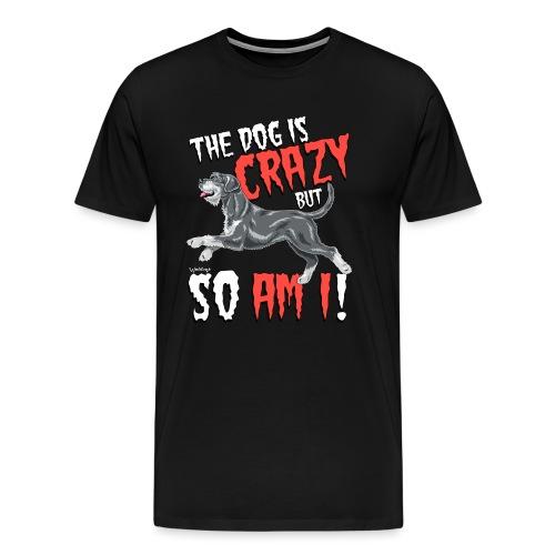 Giant Schnauzer Riesen Crazy - Men's Premium T-Shirt
