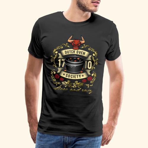 Grill-T-Shirt Dutch Oven Society - Geschenkidee! - Männer Premium T-Shirt