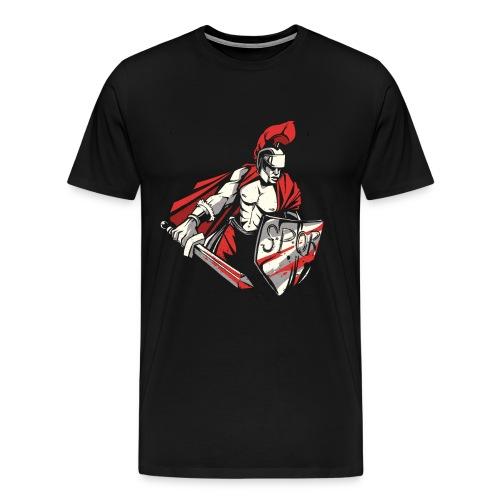Römischer Soldat Krieger . SPQR - Männer Premium T-Shirt