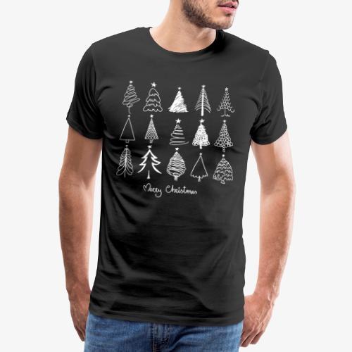Merry Christmas Sapins de Noël - T-shirt Premium Homme