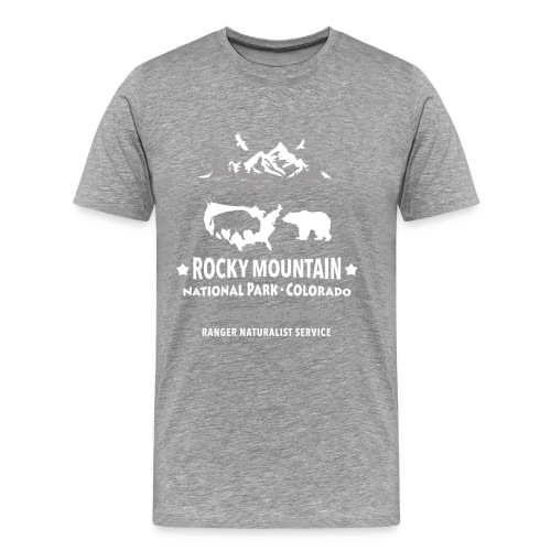 Rocky Mountain Nationalpark Berg Bison Grizzly Bär - Men's Premium T-Shirt