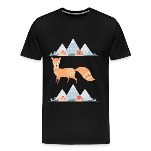 Fuchs in den Winterbergen - Männer Premium T-Shirt
